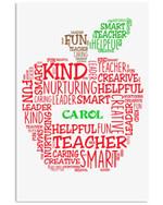 Teacher Help Caring Leader Custom Name Gift For Carol Vertical Poster