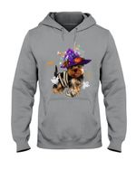 Nice Halloween Witch Yorkshire Terrier Gift For Dog Lovers Hoodie