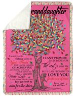 Just Go Forth Colorful Tree Grandma Gift For Granddaughter Sherpa Blanket