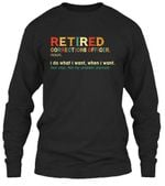 Retired Correctional Officer Special Custom Design For Personalized Job Gift Unisex Long Sleeve
