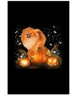 Magical Halloween Night Pomeranian Gift For Dog Lovers Vertical Poster