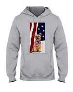 Yorkshire Usa In Our Heart Gift For Dog Lovers Hoodie