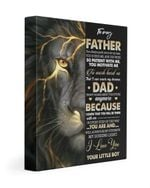 Son Gift For Papa Thunder Lion So Patient With Me Matte Canvas
