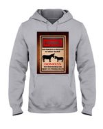 Donkey Property Protected By Trained Gift For Doneky Lovers Hoodie