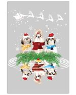 Shih Tzu Pool Mirroring Gift For Dog Lovers Vertical Poster