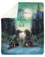 Dachshund Gift For Dog Lovers Snowy Night Together Sherpa Blanket