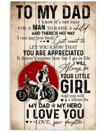 You Are Appreciated Custom Gift From Daughter To Dad Vertical Poster