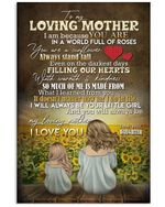 Gift For Mama You're A Sunflower Always Stand Tall Custom Design Vertical Poster