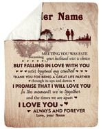 I Will Love You In The Moments We're Together Custom Name Gift For Wife Sherpa Blanket
