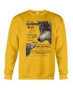 Grandpa Gift For Grandson Wolf Love You For The Rest Of Mine Sweatshirt