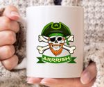 Arrrish Pirate Green St Patrick's Day Printed Mug