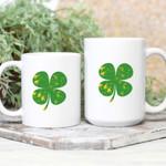 Four Leaf Clover Pattern St Patrick's Day Printed Mug