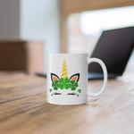 Beautiful Unicorn Shamrock St Patrick's Day Printed Mug