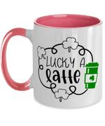 Lucky A Latter Green Clover St Patrick's Day Printed Accent Mug