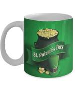 Wealthy Pot Of Gold Shamrock St Patrick's Day Printed Mug