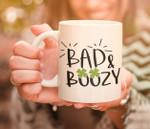 Bad And Boozy Shamrock St Patrick's Day Printed Mug