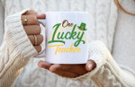 One Lucky Teacher Shamrock St Patrick's Day Printed Mug