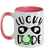 Lucky Dude Clover St Patrick's Day Printed Accent Mug