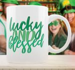 Lucky And Blessed St Patrick's Day Printed Mug