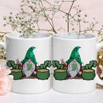 Gnome With Pot Of Gold Green Clover St Patrick's Day Printed Mug