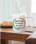 Ireland Where By Story Began Shamrock St Patrick's Day Printed Mug