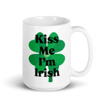 Kiss Me I'm Irish Single Shamrock St Patrick's Day Printed Mug