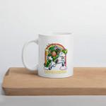 Leprechaun Riding Unicorn Shamrock St Patrick's Day Printed Mug