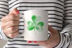 Art Clover Pattern St Patrick's Day Printed Mug