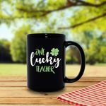 One Lucky Teacher Green Clover St Patrick's Day Printed Mug