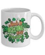 Made In Ireland 100% Original Clover St Patrick's Day Printed Mug