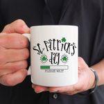 Please Wait Clover St Patrick's Day Printed Mug