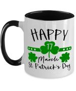 Clover St Patrick's Day Printed Accent Mug Happy 17 March