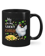 My Chicken Is My Lucky Charm Clover St Patrick's Day Printed Mug