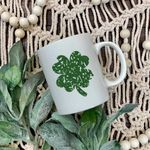 Distressed Clover Pattern St Patrick's Day Printed Mug