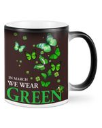 In March We Wear Green Clover St Patrick's Day Printed Mug