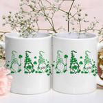 Three Lucky Gnomies Shamrock St Patrick's Day Printed Mug