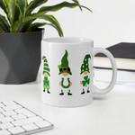 St. Patrick's Day Gnomes And Shamrock Printed Mug