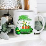 Tree Dogs And Truck Shamrock St Patrick's Day Printed Mug