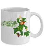 Happy Leprechaun Clover St Patrick's Day Printed Mug