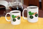 St. Patrick's Day Funny Truck Cup Shamrocks Printed Mug