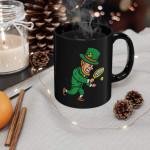 Leprechaun Tennis Funny St Patricks Day Sports Boys Gift Printed Mug