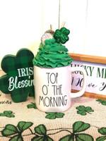 Top O' The Morning Clover St Patrick's Day Printed Mug