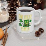 One Lucky Yiayia St. Patrick Is Day Lucky Yiayia Printed Mug