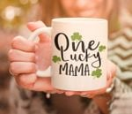 One Lucky Mama Shamrock St. Patrick's Day Printed Mug