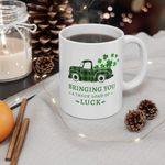 Plaid Green Truck Brining You Clover St Patrick's Day Printed Mug
