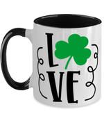 Irish Love Shamrock St Patrick's Day Printed Accent Mug