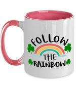 Follow The Rainbow Clover St Patrick's Day Printed Accent Mug