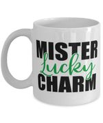 Mister Lucky Charm Clover St Patrick's Day Printed Mug