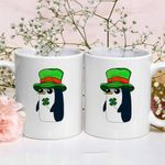 Penguins With Clover St Patrick's Day Printed Mug