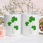 Green Shamrock St Patrick's Day Printed Mug